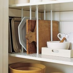 Great ways to keep your kitchen organized even when you're short on space. ( Photo via Martha Stewart)