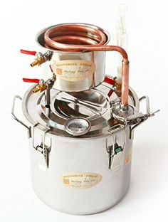 DIY 2 Gal 10 Liters Home Distiller Moonshine Alcohol Still Stainless Boiler Copper Thumper Keg Thanks for Shopping in our Amazon Store, we are a professional business company, we have engaged in online business for about 8 years, we always providing the best products and the best service ; This set of moonshine stills is a complete wine making sets; it is very easy to be set up and use, and We have test everything when we sending the package out; Boiler Material: stainless stee..