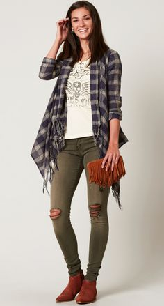 Take A Hint - Women's Outfits Cute Summer Outfits, Fall Winter Outfits, Cute Outfits, Buckle Outfits, Hippie Chic, Personal Style, Kimono Top, Trending Outfits, Skinny Jeans