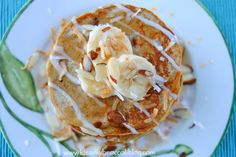Coconut Banana Pancakes | High Fiber Breakfast, Healthy Breakfast Options, Breakfast Recipes, Breakfast Ideas, Raw Breakfast, Banana Protein Pancakes, Coconut Flour Pancakes, Happy Pancakes, High Fiber Foods