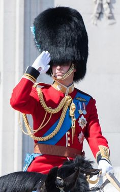 Prince William, Duke of Cambridge rides a horse during the annual Trooping The Colour parade