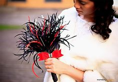 NEW - FIREWORKS- feather wedding bouquet for Bride or Bridesmaid . With pearls and Swarovski crystals on Etsy, $200.22 AUD