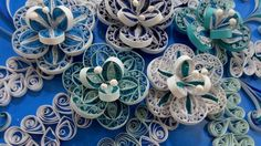 Paper Quilling Wall Art - Quilled  Flowers by QuillingOne on Etsy