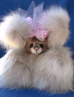 9  Super FLUFFY FOX & MINK fur Bunny bear Susan Arnot OOAK