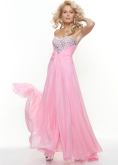 Beautiful pink prom gown - Paparazzi by Mori Lee 93069 Pink Evening Gown - http://www.rissyroos.com/mori-lee-93069-pink.html#