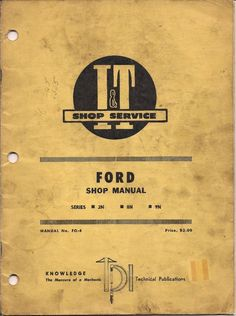 ford ferguson n ford n n n ford 1953 i and t shop service vintage tractor ford ferguson manual 2n 8n 9n no fo