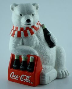 The Cookie Jar is actually the Coke Polar Bear sitting down leaning on a six…