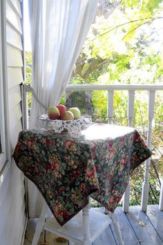 Cotton Tablecloth with Fruit Pattern Card by mailordervintage