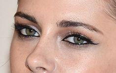 Date Night Makeup Idea: Kristen Stewart's Un-retro Cat Eye: Girls in the Beauty Department: glamour.com