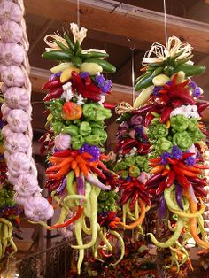 pretty hanging peppers at Pike Place Market, Seattle, WA
