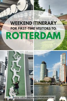 Rotterdam itinerary: A Weekend in Rotterdam for first-time visitors Amsterdam City, Amsterdam Travel, London Travel, City Quotes, European City Breaks, Rotterdam Netherlands, European Destination, Places To See, Travel Tips