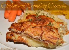 Chicken and Dumpling Casserole - The Cookin Chicks Chicken Dumpling Casserole, Chicken Parmesan Casserole, Chicken And Dumplings, Cream Of Chicken Soup, Casserole Dishes, Casserole Recipes, Chicken Parmesean, Bisquick, Yum Yum Chicken