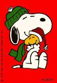 Snoopy ♥'s Woodstock  #CharlieBrownChristmas