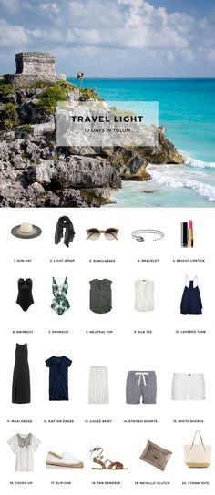 Travel Light, Pack for Tulum #metropolitanshuttle #silverspringmd #rentalservices