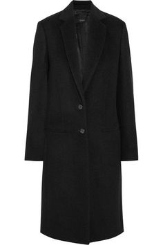 The silhouette of Joseph's black coat is based on classic menswear styles. Made from an exceptionally soft blend of wool and cashmere, it's been lightly brushed to create a soft felted texture and is lined in satin for effortless layering. Maintain the brand's pared-back aesthetic and wear yours with a simple shirt and jeans.