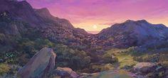 「灰と幻想のグリムガル」背景美術