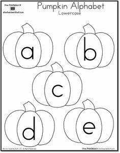 Pumpkin Lowercase Alphabet {free printables}
