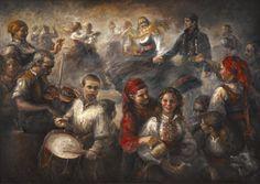 Leik, Oil on canvas by Jonny Andvik