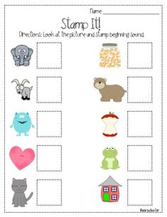 Stamp It Beginning Sounds freebie