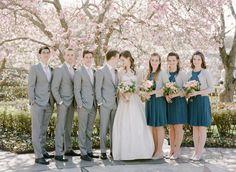 Springtime wedding in Brooklyn: http://www.stylemepretty.com/2014/07/31/springtime-wedding-in-brooklyn/ | Photography: http://www.rebeccayaleportraits.com