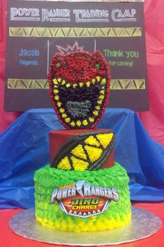 Jacob's 5th Power Ranger Dino Charge cake - kdfcreations