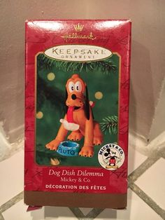Ornament Original Box 2000 Wood and Cord Vintage Hallmark Keepsake Ornament Christmas Mickey and Minnie Mouse Mickey /& Co