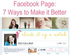 7 Ways to make your Facebook page better