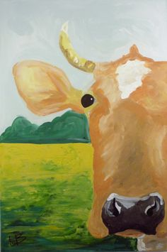 Large Cow Painting