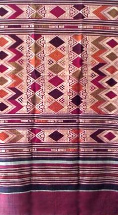 Laotian Silk and Cotton Textile, Laos Weaving, Cloth, Fabric