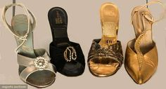 Four Pair Evening Shoes, 1950s, Augusta Auctions, April 8, 2015 NYC, Lot 125