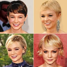 Maybe I'll have the guts someday to cut my hair really short (lower left?), but for now a trim and style will do.