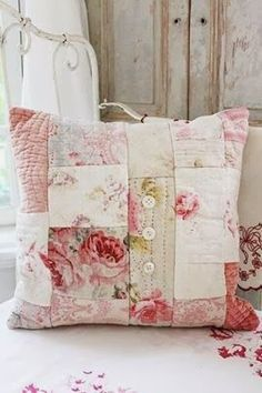 Patchwork Cushion Cover. The Olde Barn: Next Weekend