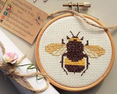 Digital download pattern to make a very cute Melli the Bee cross stitch. When…