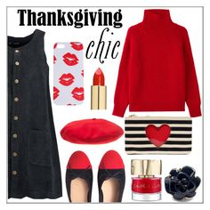 """""""Thanksgiving Chic"""" by pat912 ❤ liked on Polyvore featuring Boohoo, Chanel, Vanessa Bruno, Smith & Cult, Betmar, L'Oréal Paris, polyvoreeditorial and familydinner"""
