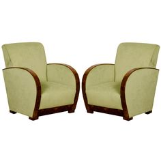 A pair of superb Art Deco armchairs from France c.1930....I love Club chairs.