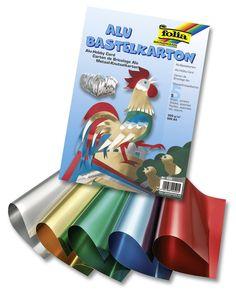 Der Alu-Bastelkarton von folia ist 2-seitig kaschiert und 300g/Quadratmeter dick. Sie finden ihn in zehn verschiedenen Farben vor. Er ist hart und robust und eignet sich somit für viele Bastelvorhaben. Mehr unter www.folia.de