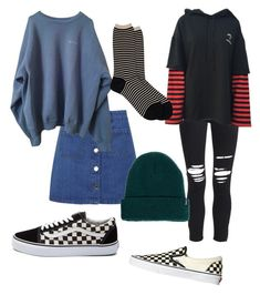 """""""Outfit"""" by sunsetsandflowers on Polyvore featuring Miss Selfridge, Vans, AMIRI, Antipast and Brixton"""