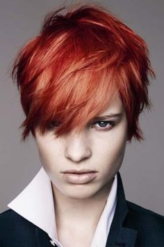 Short Layered Hairstyles Red Hair