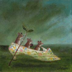 Animal Painting  Miss Havisham's Slipper by TheLitusGallery, £120.00