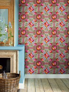 PiP Studio Singing Roses Wall Mural, Khaki - John Lewis