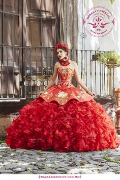 Quinceanera quinceanera party! dress quince red mexican