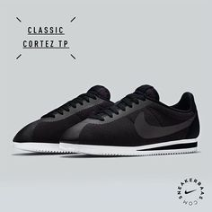 #nike #nikeclassics #cortex #cortezfleece #sneakerbaas #baasbovenbaas  Nike Classic Cortez TP 'Fleece' - The fleece upper perfectly fits on the classic Cortez.  Releases in two colorways: Black & Grey.  Now online available | Priced at 99.95 EU | Men Sizes 41- 46 EU