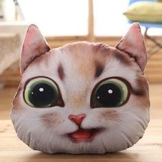 Prezzi e Sconti: #Detachable 3d big eyes cathead shape short Instock  ad Euro 12.29 in #Light brown #Home textile cushion