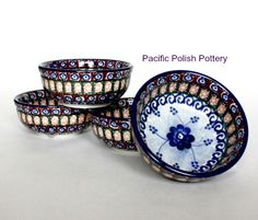 polish stoneware side bowls, perfect for everything from dessert to condiments.