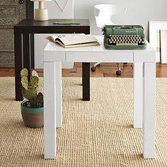 "30""w x 24""d x 30""h. $249 Simple Parsons mini desk for waiting room"