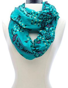 Aztec Print Infinity Scarf: Charlotte Russe