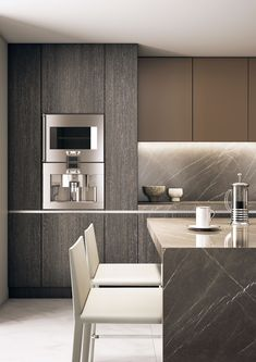 Contemporary Kitchen Design (Benefits and Types of Kitchen Style) Minimal Kitchen Design, Kitchen Room Design, Luxury Kitchen Design, Home Room Design, Contemporary Kitchen Design, Kitchen Cabinet Design, Home Decor Kitchen, Kitchen Interior, Kitchen Cabinets