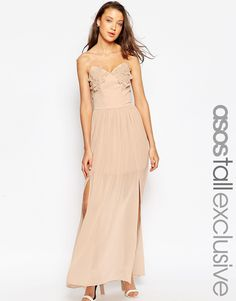 ASOS+TALL+WEDDING+Floral+Applique+Maxi+Dress