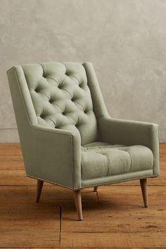 Linen Booker Armchair - #anthrofave