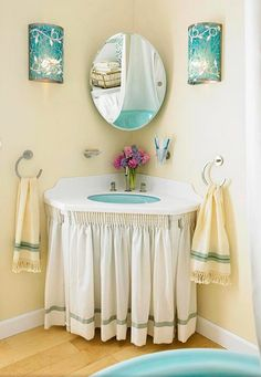 Cover Up An Ugly Sink Stand With A Curtain. You Can Achieve This With Cloth